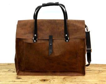 Sale! Large Leather laptop bag Women's crossbody bag Messenger bag for women, Leather laptop bag women crossbody bags for women handmade bag