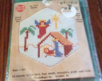 "Small Counted Cross Stitch Kit ""Nativity"""