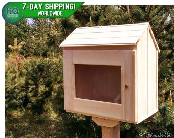 Unfinished little free library | Lending library, Mini library, Book house, Book box, Neighborhood library, Book exchange