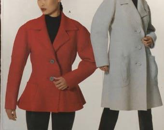 Vogue 2059 Issey Miyake Designer Original Pattern Sizes S-M-L Boiled Wool Jacket Blazer Trench Jacket  Pattern Fabulous detailing.