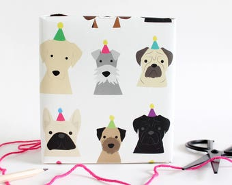 Birthday Dog wrapping paper