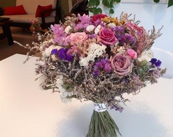 Dried flowers bouquet. Handmade Wedding bouquet.