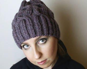 Purple braid Hat