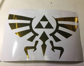 Hylian Crest Decal - Legend of Zelda