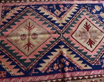 FREE SHIPPING Antique Kazak Daghestan Caucasian Rug
