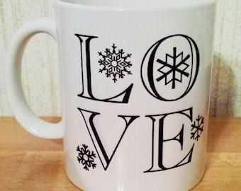 LOVE winter/snow - Coffee Mug