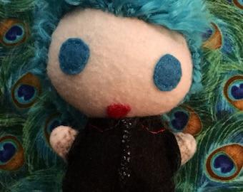 Custom Felt Doll with Brushed Yarn Hair