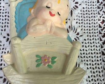 Baby Chalkware Plaque