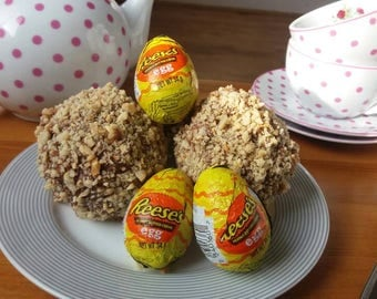 Easter gift etsy peanut butter scotch eggs chocolate brownie egg easter egg sweet scotch egg negle Images