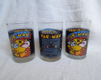 80s Pac Man Video Game Nerdy Set of Glasses
