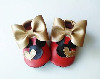 Red Minnie moccasins