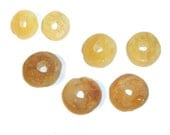 35 beads Raw amber Natural stone beads Genuine Baltic amber beads round  Yellow Large flat bead Donut amber for bracelet pendant necklace