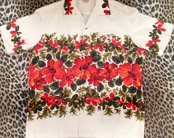 1950s Hawaiian men's shirt