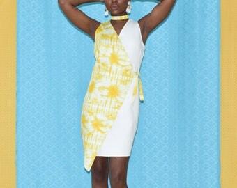 Monica wrap dress- Limonade tiedye