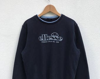 20% OFF Vintage Ellesse Embroidery Logo Sweatshirt/Casual Shirt/Ellesse Sweater/Ellesse Tennis Shirt/Ellesse Sportwear