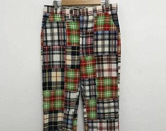 20% OFF Vintage Patchwork Pant/Patchwork Clothing/Hippies Pants/80s Pants/Talon Zipper
