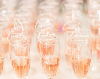 Escort Cards, Laser Cut, Etched Acrylic Stirrers,Wedding Decor,Drink Stirrers,Swizzle Sticks,Gold Stir Sticks,Luxury Wedding, Lucite,50 Pack