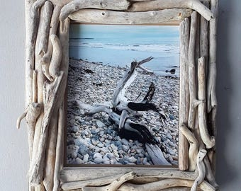 driftwood frame 8x10 picture frame driftwood home decor beach wedding frame unique - Driftwood Picture Frames