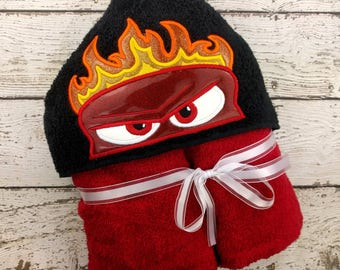 READY TO SHIP Anger Children's Hooded Towel
