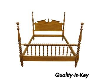 Metal bed frame etsy - Ethan allen metal bed ...