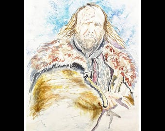 Game of Thrones/The Hound - Original Watercolour by Ray Statter - FanArt A4