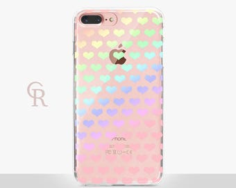Heart iPhone 6 Clear Case - Clear Case - For iPhone 8 - iPhone X - iPhone 7 Plus - iPhone 6 - iPhone 6S - iPhone SE Transparent - Samsung S8