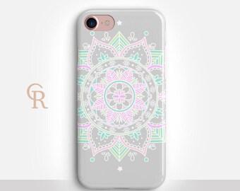 Mandala iPhone 7 Case For iPhone 8 iPhone 8 Plus iPhone X Phone 7 Plus iPhone 6 iPhone 6S  iPhone SE Samsung S8 iPhone 5 Bohemian Spiritual