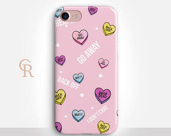I Don't Care Phone Case For iPhone 8 iPhone 8 Plus iPhone X Phone 7 Plus iPhone 6 iPhone 6S  iPhone SE Samsung S8 iPhone 5 Pink Case