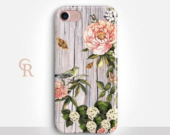 Floral Phone Case For iPhone 8 iPhone 8 Plus iPhone X Phone 7 Plus iPhone 6 iPhone 6S  iPhone SE Samsung S8 iPhone 5 Bird Animal Samsung S7