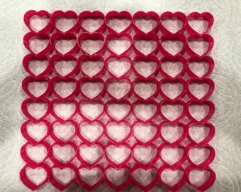 "56, 1"" size heart multi Cookie Cutter ( 8x7 inch)"