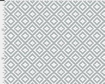 Grey Nursery Curtains / Aztec / Designer Curtains / Diamond Curtains / Blackout Curtains / Kids Curtains / Bedroom Curtains