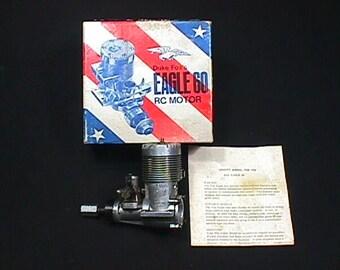 Duke Fox's Eagle 60 Radio Controlled Airplane Engine in it's Original Box & Ready to Use