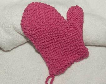 Bath mitt shower body mittens cotton zero waste washcloths gloves personal care exfoliating mitt glove