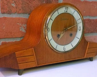 Mid-Century Junghans Mantel Clock Made in Germany