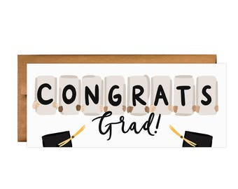 Congratulations Greeting Card: Congrats Grad Signs Greeting Card