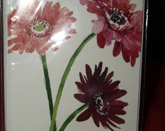 Pack of 5 Gerberas Thank You Notecards and Envelopes