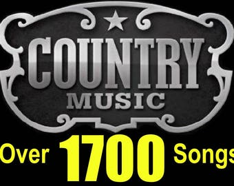 Greatest Hits of COUNTRY MUSIC Over 1500 Songs from 60 Artists New & Old Collection Over 90 hours of music play time