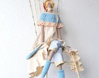 tilda doll, Tilda doll XXL,doll, rag doll, puppe, stoffpuppe, fabric doll, Hand-stitched rag doll