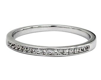 Simple row with diamond ring