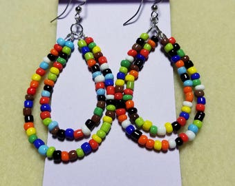 Love Bead Teardrop Earrings