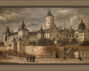 Poster, Many Sizes Available; Castle Tre Kronor Stockholm Sweden 1661 By Govert Camphuysen