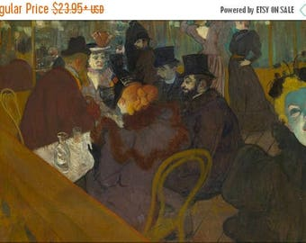 40% OFF SALE Poster, Many Sizes Available; Henri De Toulouse Lautrec At The Moulin Rouge