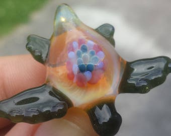 Glass Turtle Hat Pin