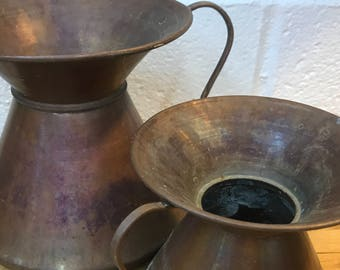 Copper containers vases lot if 2