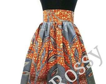 African clothing,African skirt, African print Midi skirt,Ankara High waist skirt