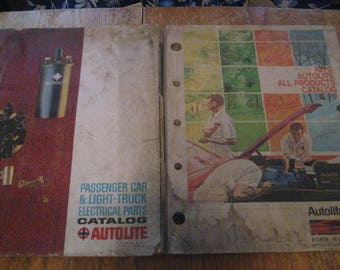 1971 Ford Autolite All Products Catalog + 1964 Autolite Electrical Parts Catalog - Lot of 2 Vintage Catalogs