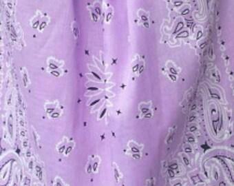 Standard size purple bandanna pillowcase