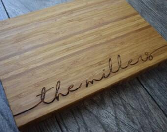 Personalized Cutting Board, Cutting Board, Engagement Gift, Personalized Gift, Custom Cutting Board, Wedding Gift, Engraved Cutting Board