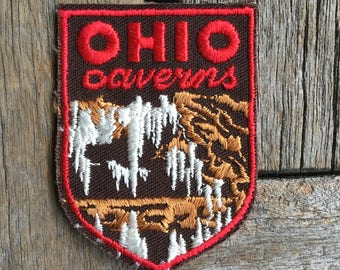 Ohio Caverns New Mexico Vintage Souvenir Travel Patch from Voyager