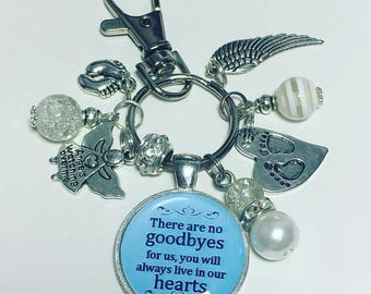 Baby loss keychain, baby loss keyring, miscarriage, infant loss, angel baby, rememberance gift, bereavement
